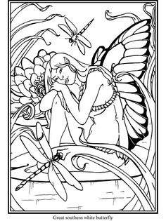 Welcome to Dover Publications Butterfly Fairies Stained Glass Coloring Book