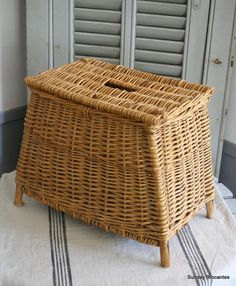 French Fishing Basket by SundayBrocantes on Etsy