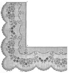 1 million+ Stunning Free Images to Use Anywhere Crochet Patterns Filet, Crochet Lace Edging, Crochet Borders, Crochet Trim, Crochet Doilies, Crochet Stitches, Cross Stitch Patterns, Knit Crochet, Fillet Crochet