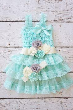Flower Girl Dress  Lace Flower girl dress  Baby by PoshPeanutKids, $74.99