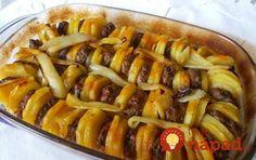 Krompir i ćufte u jednom jelu Meat Recipes, Cooking Recipes, Healthy Recipes, Yogurt Dessert, Macedonian Food, Serbian Recipes, Serbian Food, Slow Food, Special Recipes