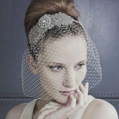 bridal veil made with antique brooch - Google Search