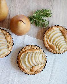 Mini Pear Almond Tart   Obsessive Cooking Disorder #baking #pear #tart #pie #holiday #almond