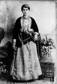 Traditional woman dress from North Anatolia -Turkey (Black Sea-Trabzon) beginning of 20th century