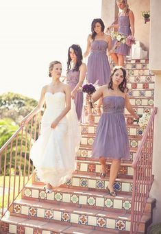 bridesmaid dresses, mauve, romantic , short, strapless, classic, sweetheart, wedding dresses, white, Spring, Summer, bridesmaid, bridesmaids, dress, dresses, flowers, lavender, lovely, purple, wedding