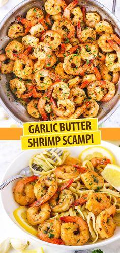 Creamy Garlic Shrimp Pasta Shrimp recipes easy, Garlic