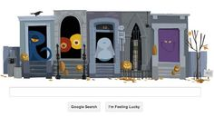 Google Doodle Halloween Special Haunted House
