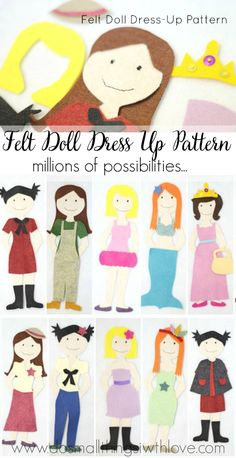 Felt Doll Dress-Up Pattern--what girl wouldn't LOVE to play with this!  How fun!