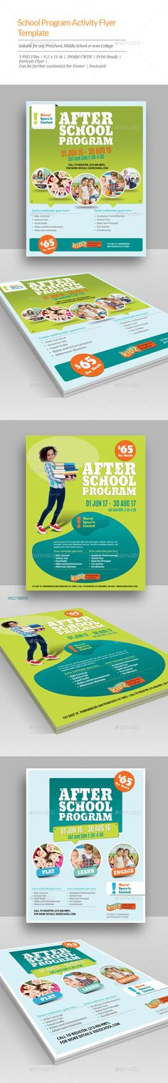 After School Program Flyer Templates | School Programs, Flyer