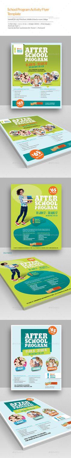 after school program flyer template