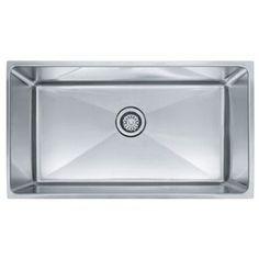 "Franke FPSX1103310 ""Professional"" Undermount Single Bowl Kitchen Sink"