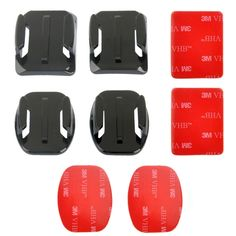 >> Click to Buy << 2 Curved Surface Mounts + 2 Flat Surface Mounts + 4 Adhesive Mount Stickers for GoPro HERO4 Session /4 /3+ /3 /2 /1 #Affiliate