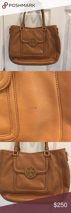 Tory Burch bag Tory Burch shoulder bag. One small ink mark on front shown in photo . Tory Burch Bags Shoulder Bags