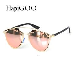 Rose Gold REFLECTED Luxury Brand Designer Real Sun Glasses