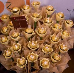 Ferrero Bouquet. this is what i'd want to get from a guy! not some flowers!