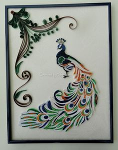 Made by Christiane - Quilled peacocks (Searched by Châu Khang)