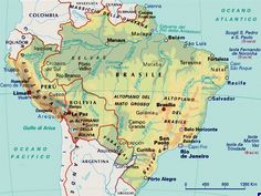 Risultati immagini per cartina brasile fisica