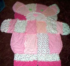 Pink Perrfection Kitty Cat Rag Quilt