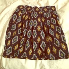 Cotton tribal print skirt with pockets Great skirt! Comfortable and stretchy. Size small. The pockets are a great touch BUNDLE for more discounts! Skirts Pencil