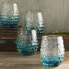 Dahlia Ombre Hobnail Double Old Fashioned Glass