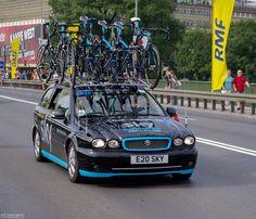 Locozoom: Jaguar X-Type - Sky Pro Cycling team car