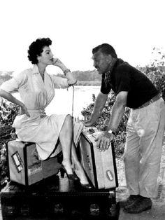 1953 Mogambo. Clark Gable & Ava Gardner.