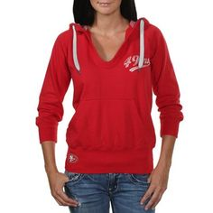 Touch by Alyssa Milano San Francisco 49ers Ladies In the Bleachers Pullover Hoodie Sweatshirt - Scarlet