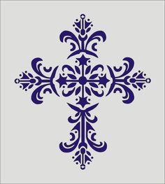Vintage Cross STENCIL 5 Sizes Available by SuperiorStencils