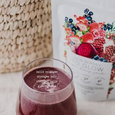 """Glowing skin, nourished hair and strong healthy nails 🙌 Help your body to build it's own natural collagen with our Skin Berries powder 🍓🌱 . Enjoy it in water, smoothies or recipes! """"Honestly the best powder I've used in a long time"""" - Paige S Rice Berry, Beetroot Powder, Strawberry Juice, Vanilla Chai, Strong Nails, Pomegranate Juice, Healthy Nails, Vegan Beauty"""