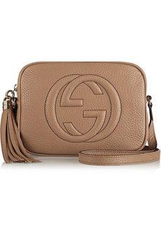 Gucci Soho Textured-Leather Shoulder Bag, in Black or Calf