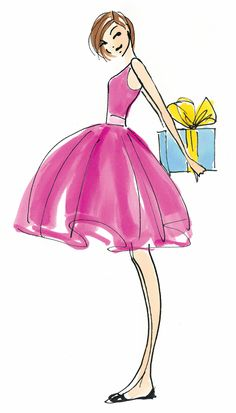 ┌iiiii┐ Donna Mehalko artist The Hundred Dresses Authors On The 5 Styles Every Girl Needs In Her Closet Fashion Illustration Sketches, Fashion Sketches, Illustration Art, Girl Illustrations, Happy Birthday Wishes, Birthday Greetings, Happy B Day, Birthday Images, Girl Birthday