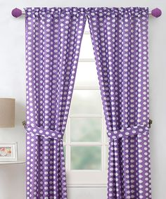 Purple Layla Curtain Panel - Set of Two by Victoria Classics... maybe for Ava's room in OH?