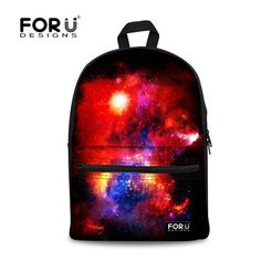 FORUDESIGNS Hot Children Girls Canvas School Bags Classic Galaxy Star  Universe Space Print Schoolbag for Teenager Kids Backpack fc5e33e56801f