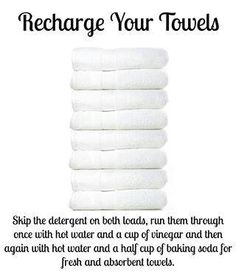 Refresh towels. This actually works quite well, especially for my micro-cotton bath towels.