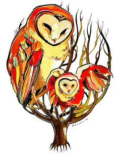 The Barn Owls (full size limited edition). $95.00, via Etsy.