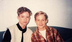 Justin Timberlake and Ryan Gosling. So much future swag in one picture