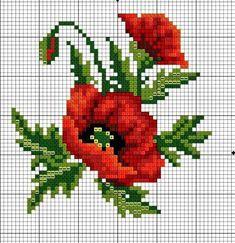 вышивка крестом схемы цветы