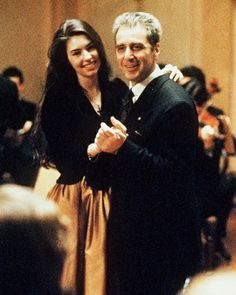 Mary and Michael Corleone in Godfather III - Sophia Coppola and Al Pacino Al Pacino, The Godfather Game, The Godfather Part Iii, Sofia Coppola Movies, Don Corleone, Gangster Movies, Greys Anatomy Memes, About Time Movie, Classic Movies