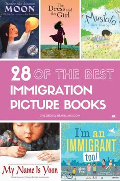 Click through for over 25 picture book recommendations to help children understand the complex and emotional factors involved in immigration. These picture books focus on people fleeing their homes, arriving in new countries and their hopes and fears. Some of the books share a more discreet message about accepting others. #childrenslibrarylady #kidsbooks #picturebooks #kidslit #readaloud #immigration