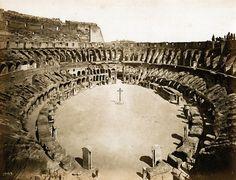 Enrico Verzaschi - Colosseum, Rome, ca 1867 #TuscanyAgriturismoGiratola