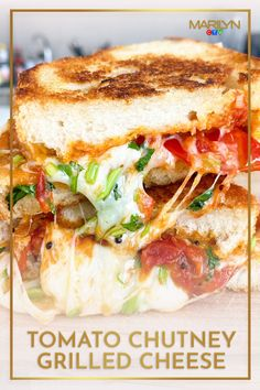 This will change your relationship with grilled cheese sandwiches forever. Tomato Chutney, Cheddar Cheese, Grilling, Sandwiches, Recipes, Relationship, Change, Food, Ideas