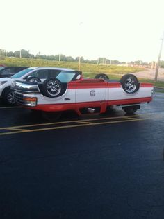 This Upside Down Truck Drives Around Town, Take A Closer Look