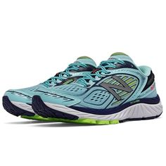 860v7 Running Shoe in Ozone Blue/Lime Glo