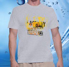 tshirt men, cotton combet gildan front custom Cargo Dockland Y85 (ash – CELLCUSTOMCASE