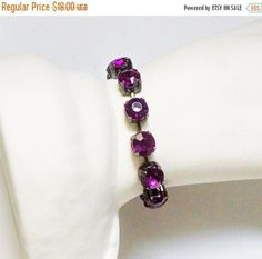 Christmas Sale 2 Bracelet Red Violet Purple Rhinestone Cup