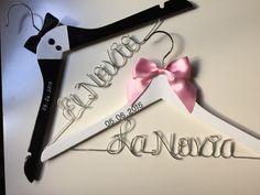 Percha personalizada Novia,Novio,Brides Hanger,Han de PERCHAS PERSONALIZADAS ( PERSONALIZED HANGER) por DaWanda.com