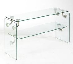 Shop Clarion Glass Metal Rectangle Sofa Table with great price, The Classy Home Furniture has the best selection of to choose from Sofa Tables, Console Table, Living Room Furniture, Home Furniture, Glass Table, All Modern, Bathroom Medicine Cabinet, Clear Glass, Metal
