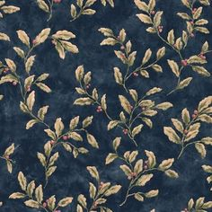 The Wallpaper Company - 20.5 In. W Blue Berries and Leaves Wallpaper - WC1282928…