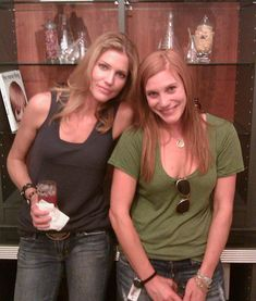 Number 6 & Starbuck, aka Tricia Helfer & Katee Sackoff; Acting Outlaw buddies