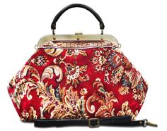 "ESCULAP Blossom Red - Large Classic framed ""Doctor"" Gladstone CARPET bag Made of Carpet® http://www.amazon.co.uk/dp/B00K3T1ITA/ref=cm_sw_r_pi_dp_p1hwvb0RYDB8E"